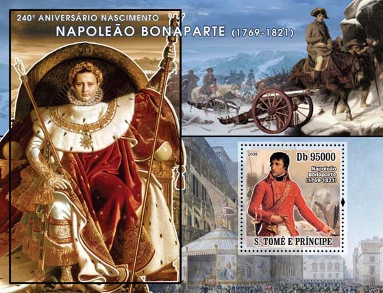 Napoleon s/s - Issue of Sao Tome and Principe postage stamps