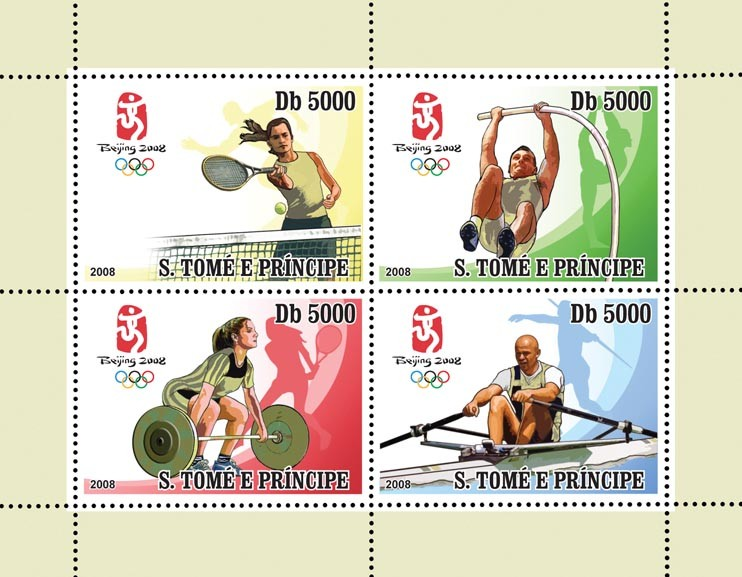 Olympic Games Peking 2008 - Issue of Sao Tome and Principe postage stamps