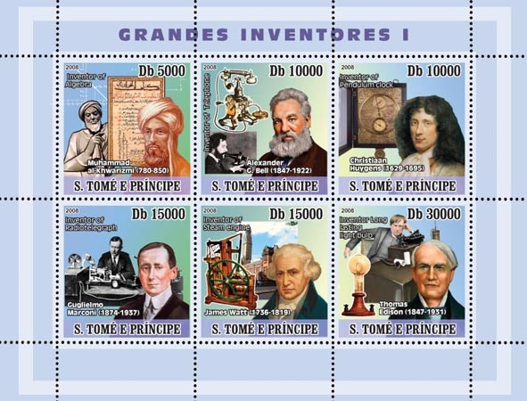 Inventors I - Issue of Sao Tome and Principe postage stamps
