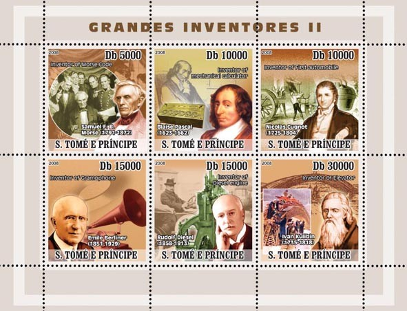 Inventors II - Issue of Sao Tome and Principe postage stamps