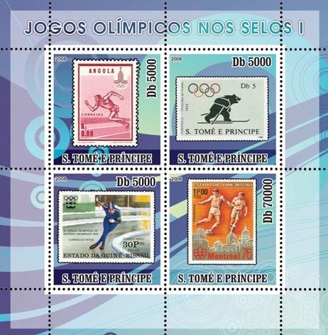 Olympic Games on Stamps I - Issue of Sao Tome and Principe postage stamps