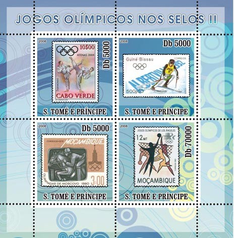 Olympic Games on Stamps II - Issue of Sao Tome and Principe postage stamps