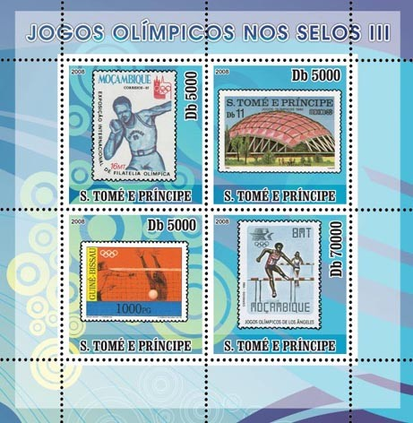 Olympic Games on Stamps III - Issue of Sao Tome and Principe postage stamps