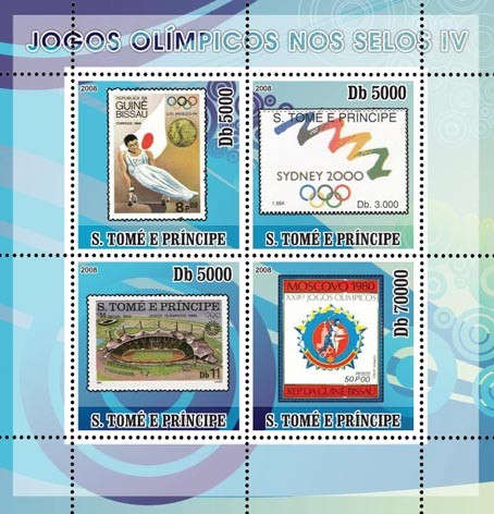 Olympic Games on Stamps IV - Issue of Sao Tome and Principe postage stamps