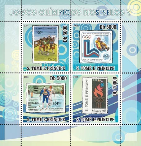Olympic Games on Stamps V - Issue of Sao Tome and Principe postage stamps
