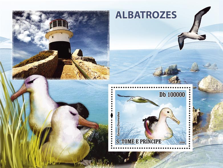Birds Albatross s/s - Issue of Sao Tome and Principe postage stamps