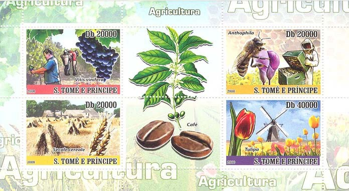 Agriculture - Issue of Sao Tome and Principe postage stamps