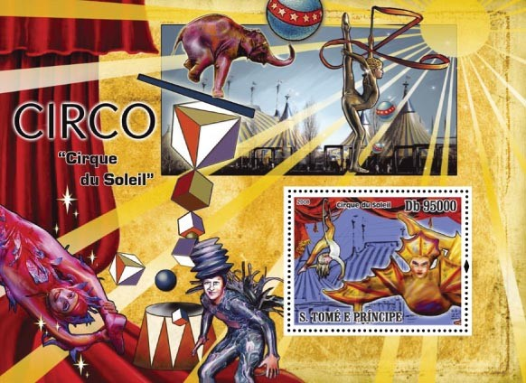 Circus s/s - Issue of Sao Tome and Principe postage stamps