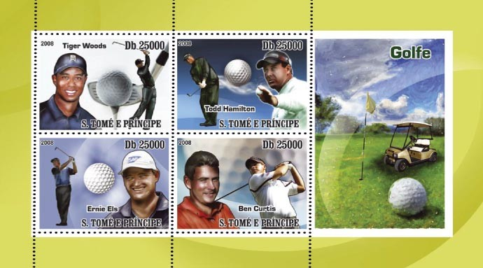 Golf 4v - Issue of Sao Tome and Principe postage stamps