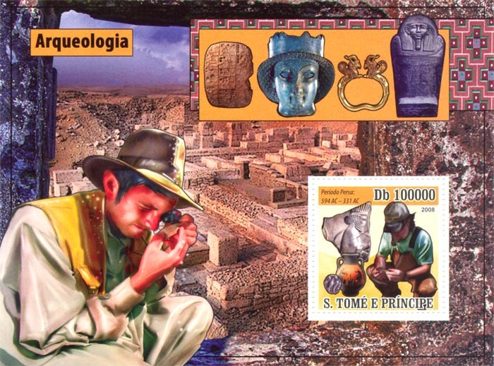 Archaeology - Issue of Sao Tome and Principe postage stamps