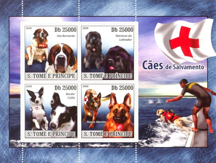 Rescue Dogs - Issue of Sao Tome and Principe postage stamps