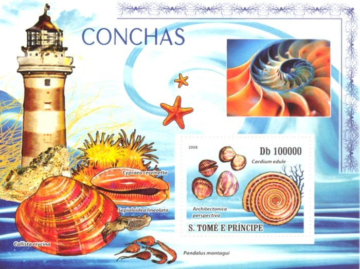 Shells - Issue of Sao Tome and Principe postage stamps