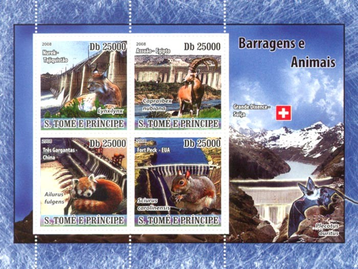 Dams & Animals - Issue of Sao Tome and Principe postage stamps