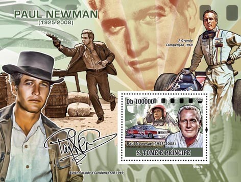 Paintings of Paul Newman (1925-2008) - Issue of Sao Tome and Principe postage stamps