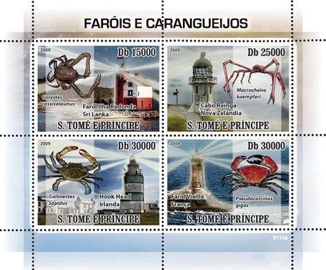 Lighthouses and Lobsters - Issue of Sao Tome and Principe postage stamps