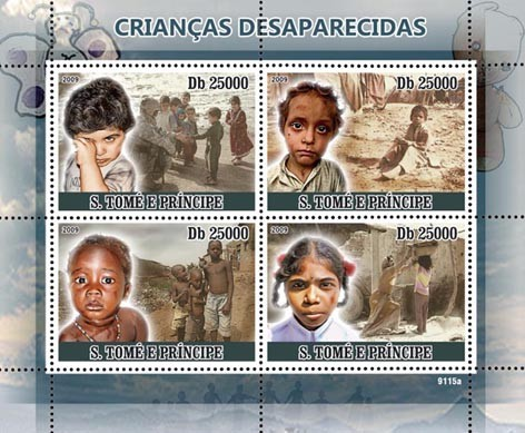 Missing Childs - Issue of Sao Tome and Principe postage stamps