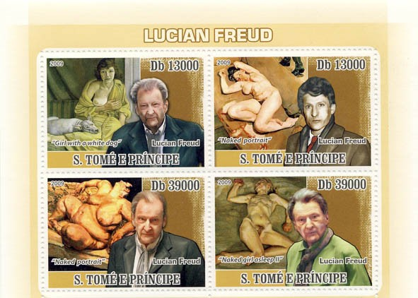 Art of Lucian Freud - Issue of Sao Tome and Principe postage stamps