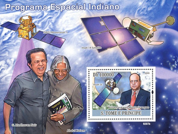 Program of Space Indian (Satelites) - Issue of Sao Tome and Principe postage stamps