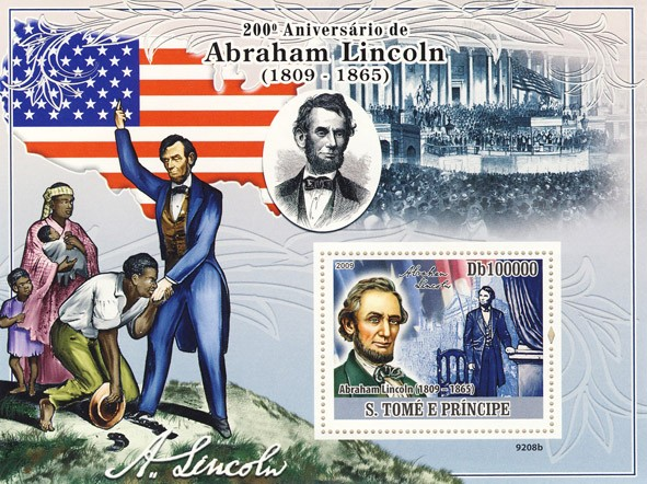 200th Abraham Lincoln (1809-1865) - Issue of Sao Tome and Principe postage stamps