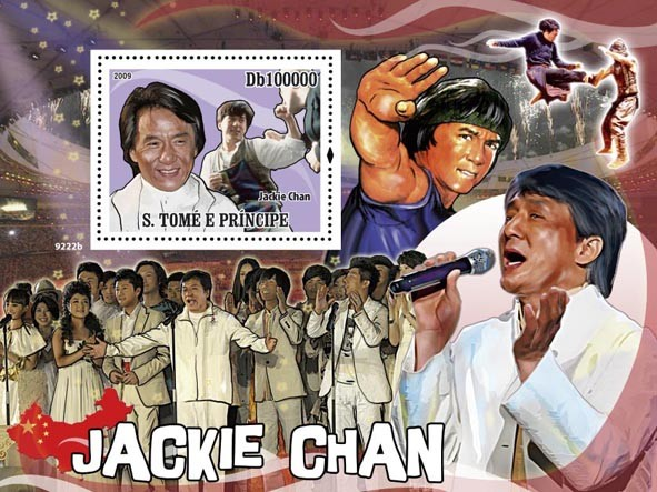 Jackie Chan - Issue of Sao Tome and Principe postage stamps