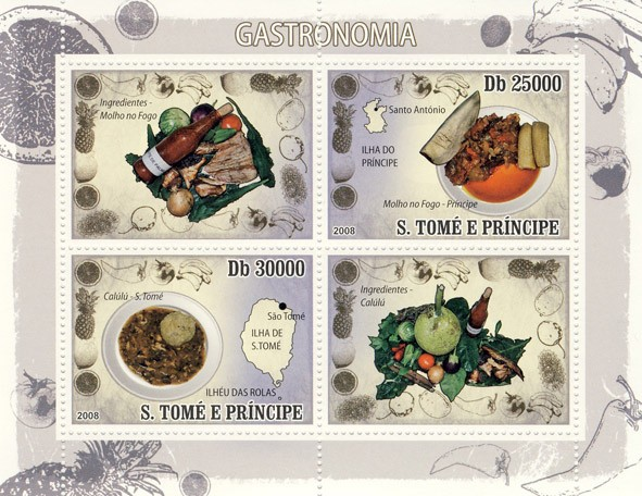 Gastronomic of Sao Tome & Principe - Issue of Sao Tome and Principe postage stamps