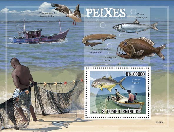 Fishes & Fishing - Issue of Sao Tome and Principe postage stamps