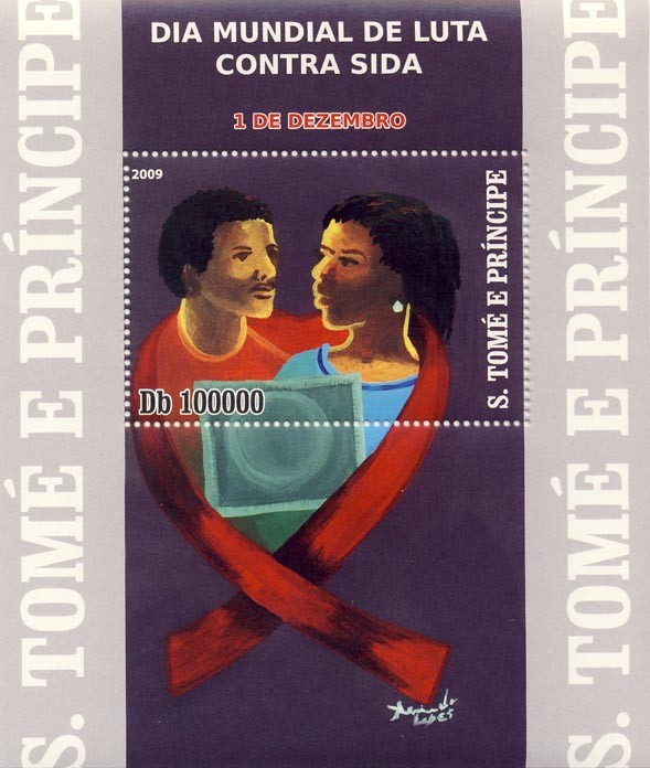 World-Wide day against AIDS - Issue of Sao Tome and Principe postage stamps