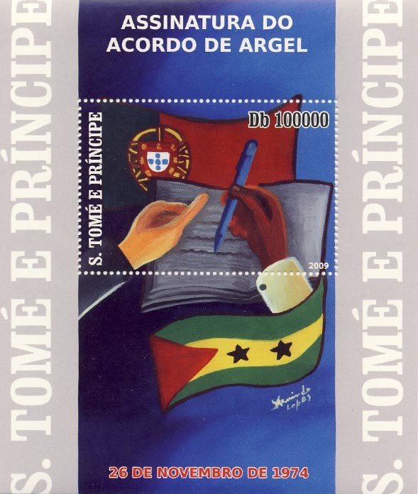 25 th Anniversary of Argel Treaty - Issue of Sao Tome and Principe postage stamps
