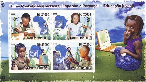 Issues of 2008 year  Education of children - UPAEP - Issue of Sao Tome and Principe postage stamps