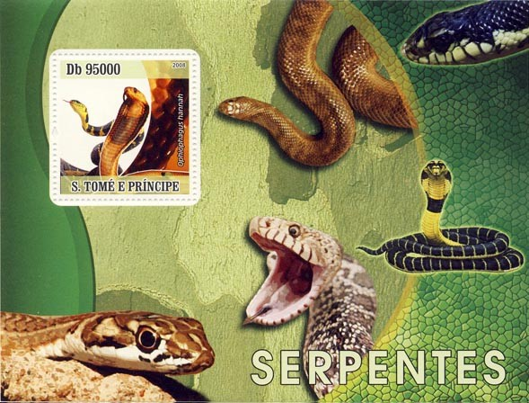 Issues of 2008 year  Snakes - Issue of Sao Tome and Principe postage stamps