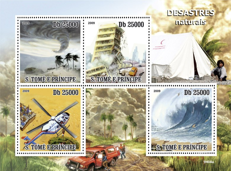 Disasters - Issue of Sao Tome and Principe postage stamps