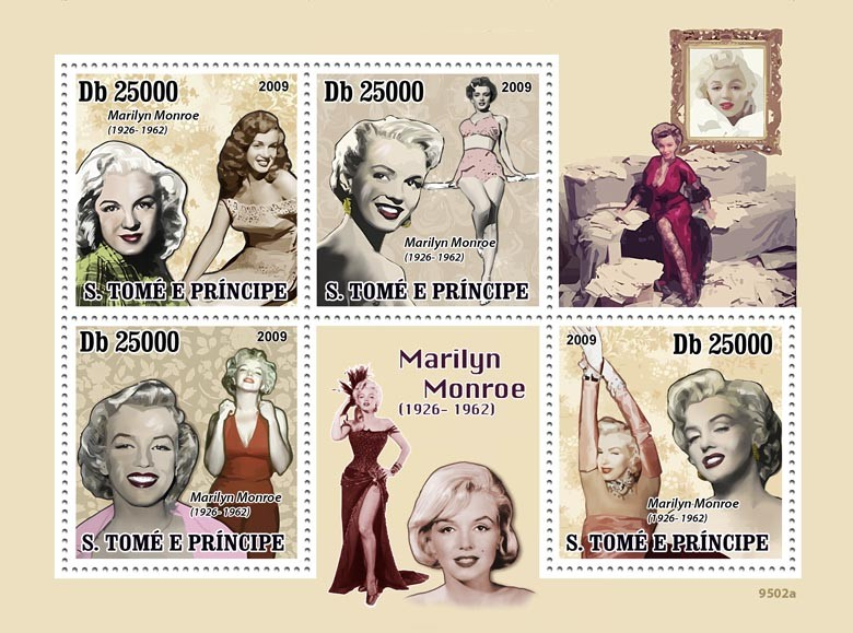 Marilyn Monroe ( 1926-1962 ) - Issue of Sao Tome and Principe postage stamps