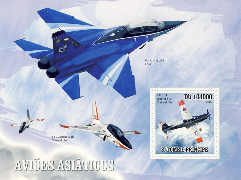 Asian Aircraft - Issue of Sao Tome and Principe postage stamps