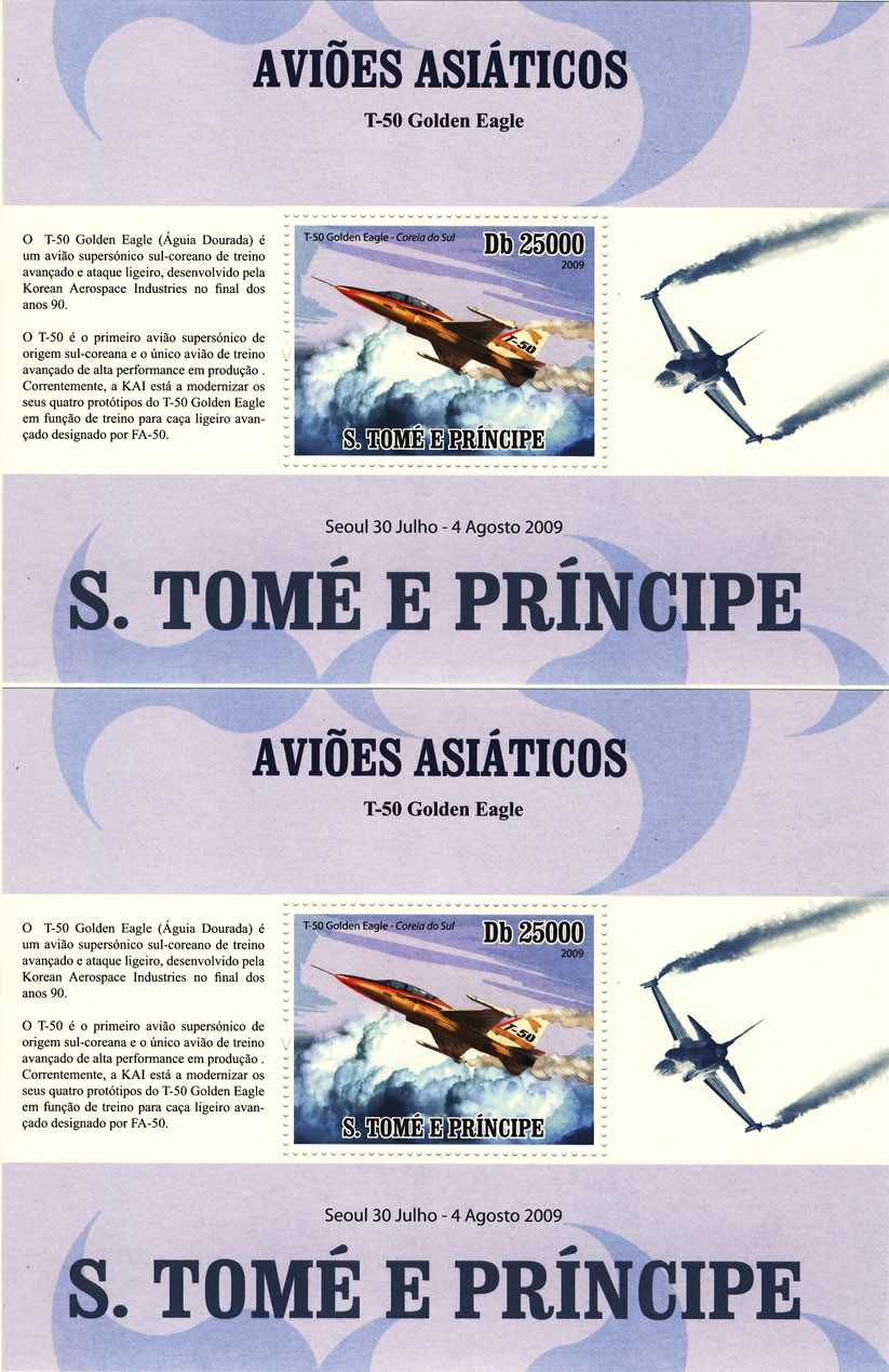 Asian Aircraft  / English s/s and Portuguese s/s - Issue of Sao Tome and Principe postage stamps