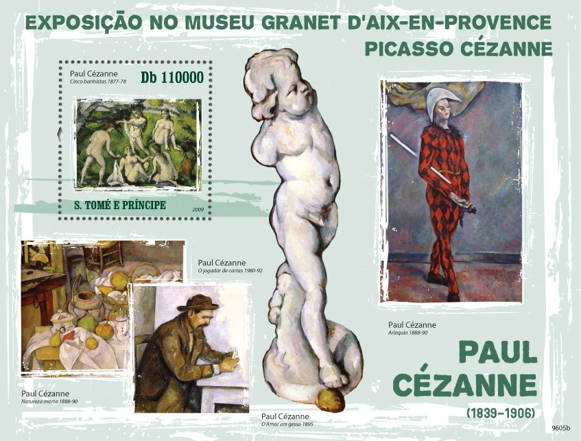 Paintings of Paul Cezanne ( 1839-1906 ) - Issue of Sao Tome and Principe postage stamps