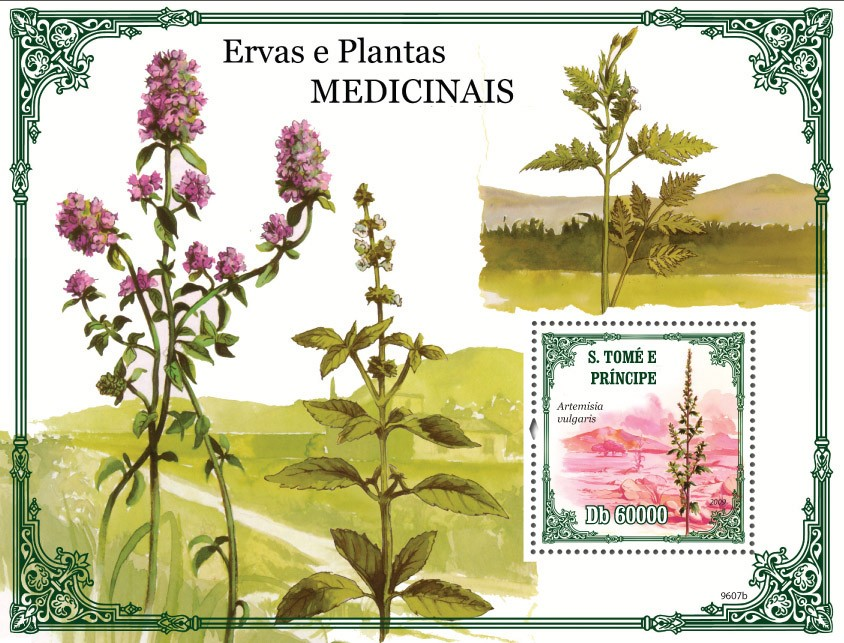 Medical plants - Issue of Sao Tome and Principe postage stamps