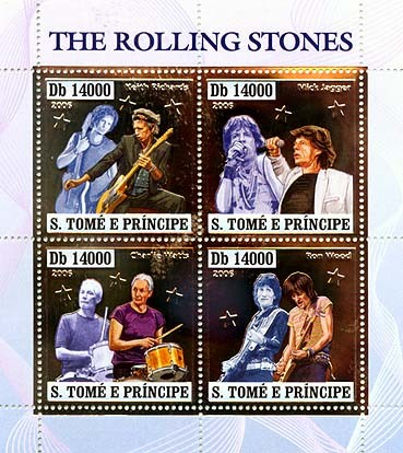 The Rolling stones  4v x 14000 - Issue of Sao Tome and Principe postage stamps