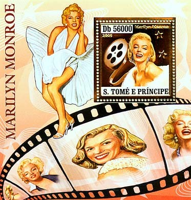 Marilyn Monroe S/s 56000 - Issue of Sao Tome and Principe postage stamps