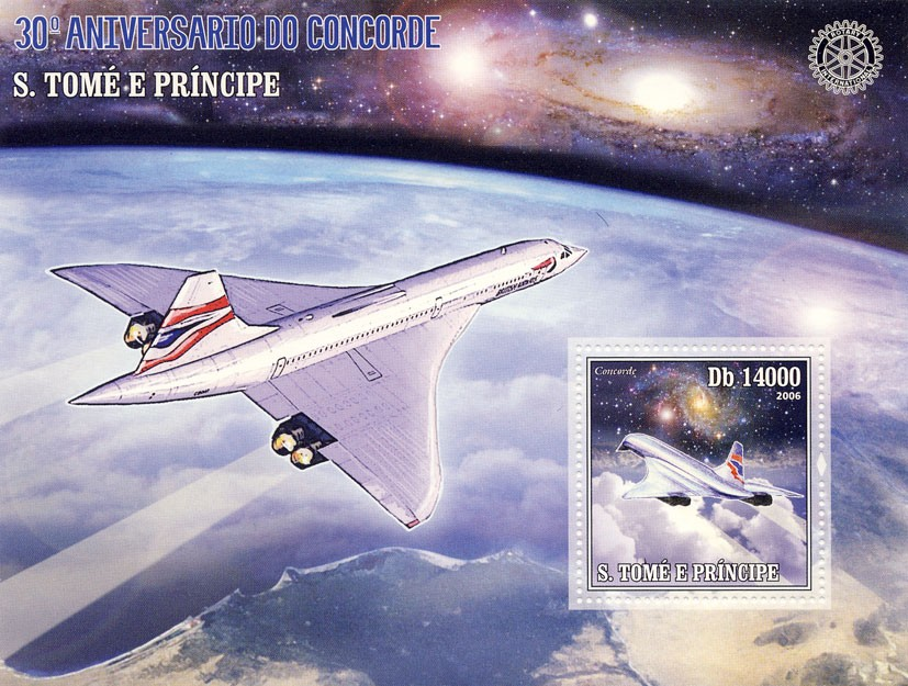 30th Anniversary of Concorde - Issue of Sao Tome and Principe postage stamps