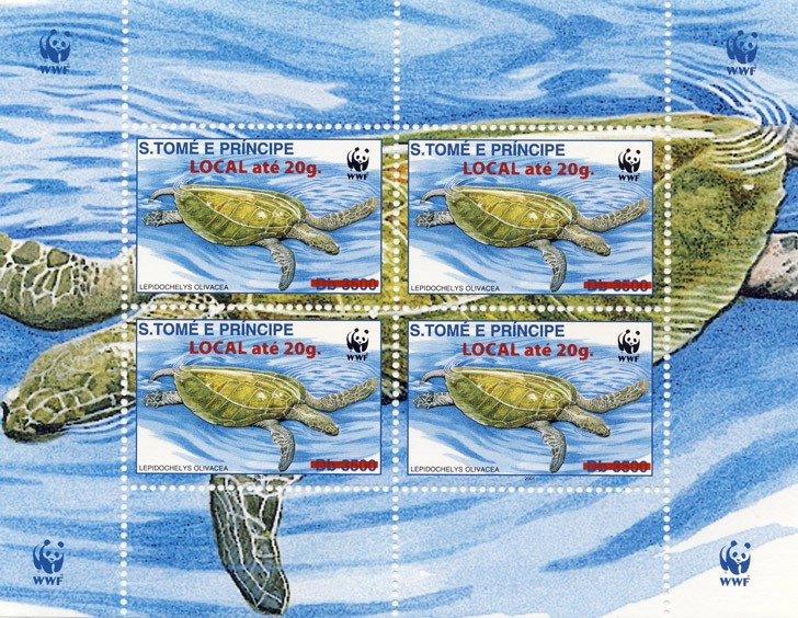 Turtles 4v - Issue of Sao Tome and Principe postage stamps