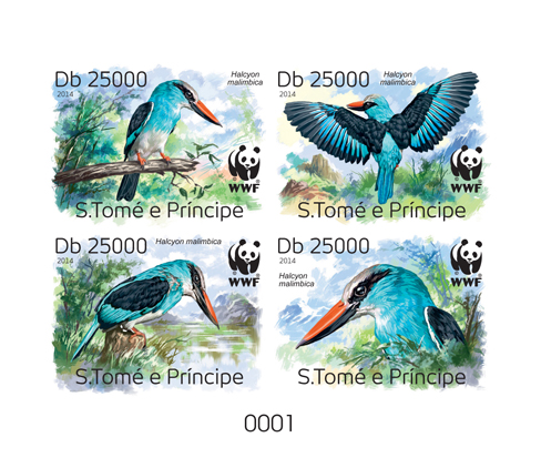 WWF – Birds (delux) - Issue of Sao Tome and Principe postage stamps