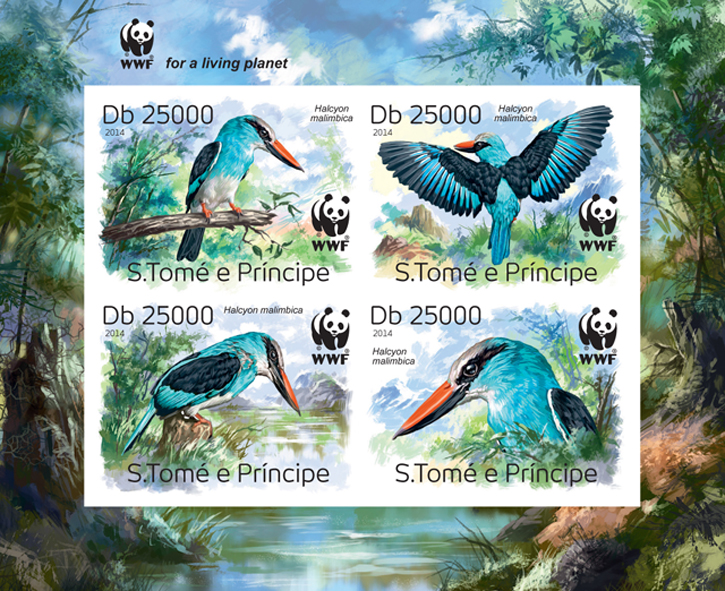 WWF – Birds (imperf. Set) - Issue of Sao Tome and Principe postage stamps