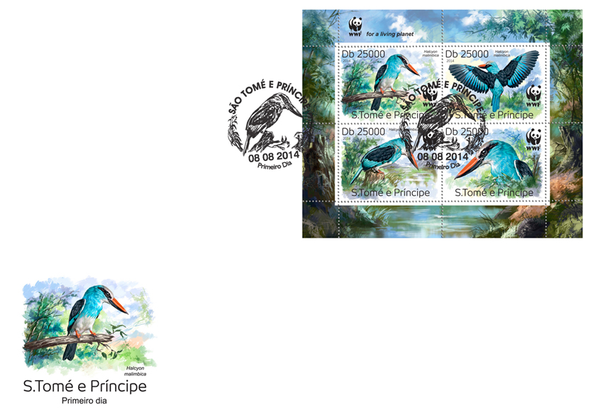 WWF – Birds (FDC) - Issue of Sao Tome and Principe postage stamps