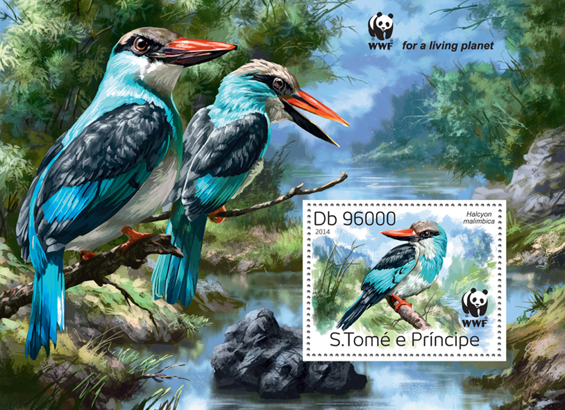 WWF – Birds (souvenir sheet) - Issue of Sao Tome and Principe postage stamps
