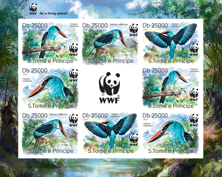 WWF – Birds (imperf. 2 sets) - Issue of Sao Tome and Principe postage stamps