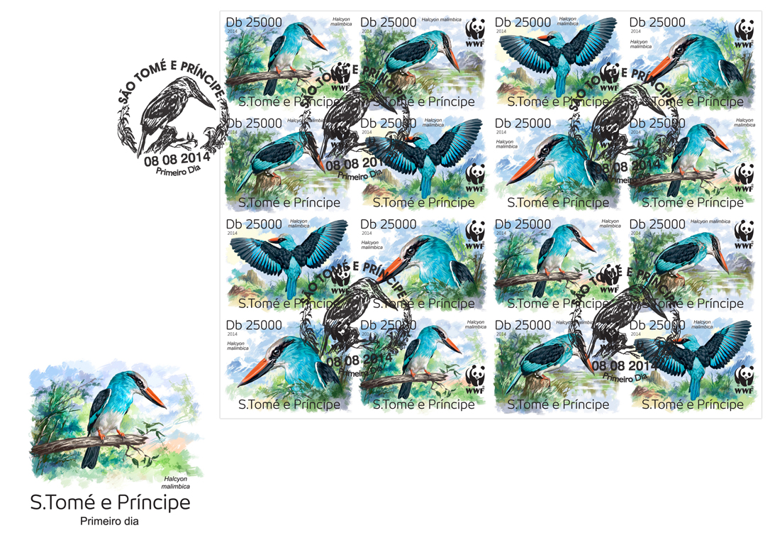 WWF – Birds (FDC imperf.) - Issue of Sao Tome and Principe postage stamps