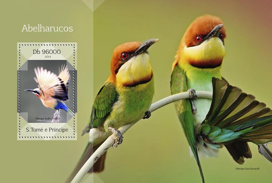 Bee-eaters  - Issue of Sao Tome and Principe postage stamps