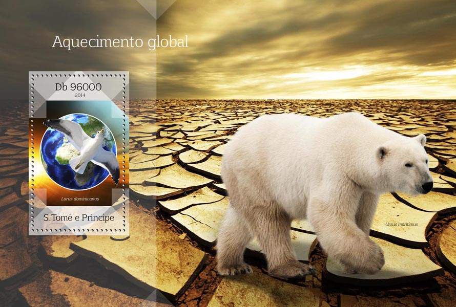 Global warming - Issue of Sao Tome and Principe postage stamps