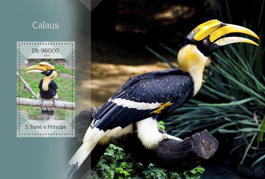 Hornbills - Issue of Sao Tome and Principe postage stamps