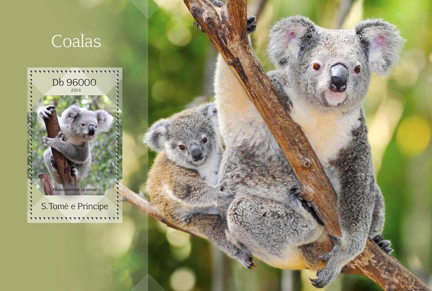 Koalas - Issue of Sao Tome and Principe postage stamps